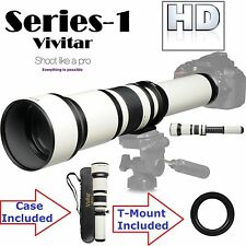 Vivitar 650-1300mm Telephoto Zoom For Canon EOS Rebel T6 80D 70D 1Dx II M2 6D
