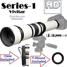 Series-1 Vivitar 650-1300mm Telephoto Zoom For Canon EOS Rebel T3 T3i T5i T5