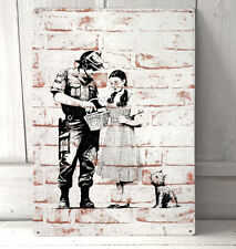 Banksy Graffiti Wizard of Oz Police sign A4 metal plaque decor picture