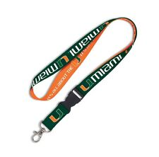 MIAMI HURRICANES IT'S ALL ABOUT THE U LANYARD DETACHABLE BUCKLE BRAND NEW