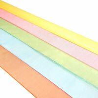Quality 25mm Organza Ribbon - Woven Edge Polyester - 2 Metre Lengths, 25 Colours