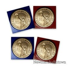 2014 P+D  Calvin Coolidge Presidential Dollars ~ Pos A+B Coins from Mint Set