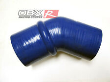 "OBX 45 Degree Silicone Coupler Hump Elbow 2.25"" - 2.25"" Blue Hose"