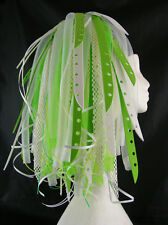 CYBERLOXSHOP NEON GREENBLEACH CYBERLOX CYBER HAIR FALLS DREADS RAVE GREEN WHITE