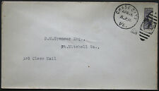 Cover - True 3 Cent Bisect to 1 1/2 Ct 3rd Class Mail rate - Chase Va S33