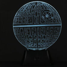 3D Color Change LED Wars Death Star Bulbbing Illusion Night Light Table USB Lamp