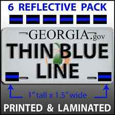 6 PACK THIN BLUE LINE License Plate Decals Stickers Police PBA BLUE LIVES MATTER