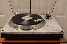 Vintage Denon DP-1800 Turntable with Marble Cabinet