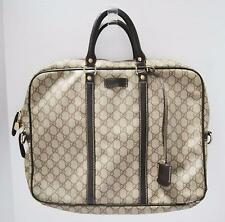 Gucci Unisex Soft Briefcase Documents Laptop Bag Vintage Designer Monogram