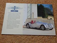 Morgan 4/4 1800 2-seater specification sheet - 1999/2000 (no emissions data)