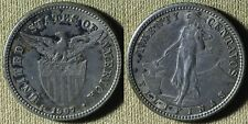 Philippines : 1907S 20 Ct Xf-Au Cleaned in Past , Toning #170 Ir5055