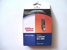 Office Depot Printer Ink Cartridge Replaces Canon BCI-6BK Black Ink 915-382 NEW