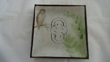 Fringe Studio Glass Trinket Vanity Tray#511065  MONOGRAM O-NIB