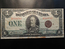 1923 DOMINION OF CANADA ONE DOLLAR $1 DC-25i MCCAVOUR SAUNDERS BRONZE SEAL
