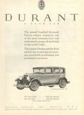 1929 Durant Six-Sixty Four-Door Sedan Ad - Must See !!