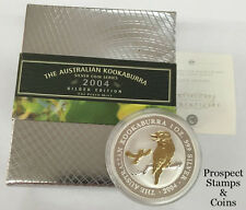2004 Kookaburra 1oz Silver Gilded Coin and Pin