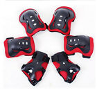 6pc New Kid Roller Skating Skateboard Knee Elbow Wrist Protective Guard Pad Gear