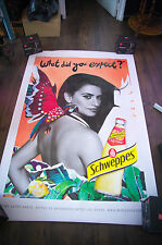 SCHWEPPES PENELOPE CRUZ Style B Giant 4x6 ft D/S French Original Poster 2014
