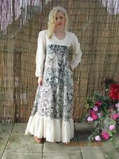 VTG 70S LONG INDIAN COTTON GAUZE MAXI DRESS HIPPY FESTIVAL STYLE SZ 8/10