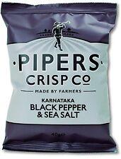 Pipers Crisps Karnataka Black Pepper and Sea Salt (Pack of 24)