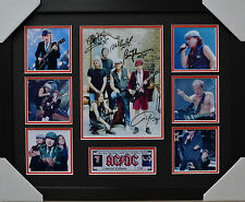 ACDC SIGNED MEMORABILIA FRAMED LIMITED EDITION