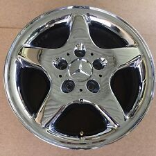"1998 - 2001 Mercedes ML320 ML430 Chrome Wheel Rim w/ Cap 16x8"" Factory OEM 65184"