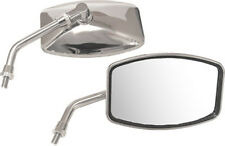 """BIG YAMAHA Chrome Motorcycle Mirrors w/ 10mm mount 6.25"""" x 4.25"""" Left & Right"""