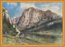 Altaussee Lake and Face of Mount Trissel Rudolf von Alt Gebirge K&K B A1 03203