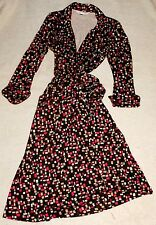 Diane von Furstenberg Duenne Silk Jersey Confetti Print Wrap Dress Sz 10