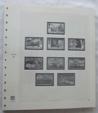 SAFE DUAL GUERNSEY 1990-2009 HINGELESS & ILLUSTRATED STAMP RING ALBUM LEAVES