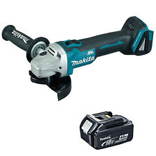 MAKITA 18V LXT DGA454 DGA454Z DGA454RFE ANGLE GRINDER AND BL1840 BATTERY