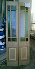 Bifold door timber coloured glass  suit 770 doorway 2000 x 760 x 20 mm