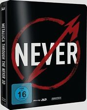 METALLICA - METALLICA THROUGH THE NEVER-BLU-RAY 3D-STEELBO  2 BLU-RAY NEW+