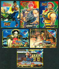 6 VIRTUA FIGHTER II & STREET FIGHTER II Philippine TEKS / Trading Cards