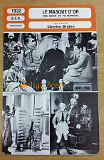US Pre-Code Adventure The Mask of Fu Manchu Boris Karloff French Film Trade Card