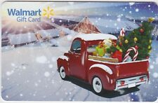 WalMart Vintage Red Pickup Truck Christmas Holiday Snowy 2016 Gift Card FD-52844
