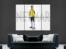 NEYMAR BRAZIL FOOTBALL SOCCER WORLD CUP LARGE PICTURE POSTER GIANT