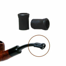 10pcs Black Soft Prevention Tobacco Pipe Mouthpiece Bit Rubber Protective Sleeve