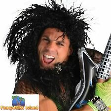 BLACK ROCK 80'S WILD WIG SLASH GUNS N ROSES KISS adults mens fancy dress costume
