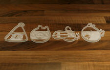 Angry Birds Cookie Cutters x 4 in Total