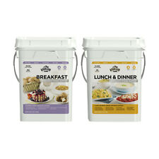 NEW Augason Farms Emergency Breakfast Lunch and 4-gallon Dinner Pail Survival