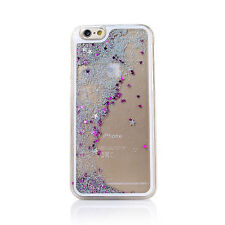 For iPhone 6 Plus Transparent Quicksand Glitter Stars Bling Hard Back Case Cover
