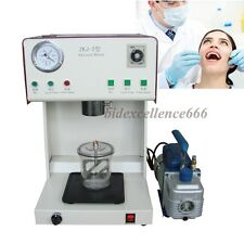 Dental Lab Vacuum Mixer Mixing Machine With Outer Pump & Mixing Beaker Dentist
