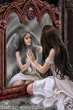 ANNE STOKES ANGEL MAGIC MIRROR - 3D CULT/HORROR PICTURE 300mm x 400mm