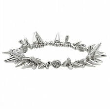 Fashion Silver Renegade Stella Cluster Bracelet Spike Pave Beaded Dot Bracelet
