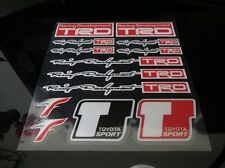 TOYOTA TRD SPORT TYPE STICKER DECAL WHEEL BADGE SET MR2 SUPRA CELICA 86 COROLLA