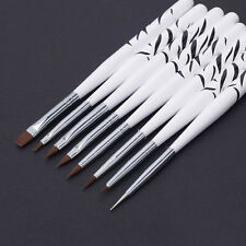 8pcs Nail Art Design Brush Dotting Painting Pen Acrylic Drawing Liner Tools Set