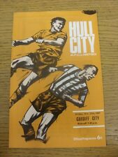 27/10/1967 Hull City v Cardiff City  . Thanks for viewing our item.  Any noticab