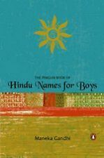 PENGUIN BOOK OF HINDU NAMES FOR BOYS BY MANEKA GANDHI