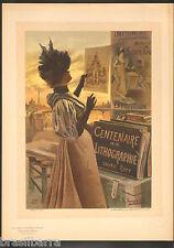 """LES MAITRES DE L'AFFICHE : Joseph Sattler """"Pan"""" Lithographie 1897"""